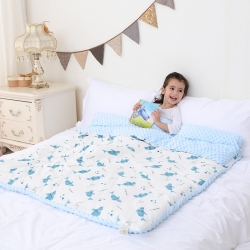 心卓婴童馆 婴幼儿棉纱豆豆被/毯双层纱被子儿童被毯子 小海豚