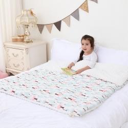 心卓婴童馆 婴幼儿棉纱豆豆被/毯双层纱被子儿童被毯子 小松树