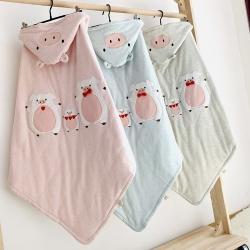 (總)心卓嬰童館 嬰幼兒春夏新款彩棉抱被90cmX90cm