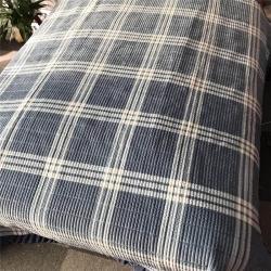 小米家 新款多功能水晶绒纯棉床盖密道绗缝被2米 大格调蓝