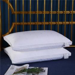 优派枕头枕芯 新款贡缎提花护颈枕48*74cm 萧伯纳