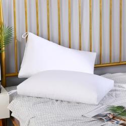 优派枕头枕芯重磅斜纹磨毛可水洗护颈保健枕48*74cm 白色