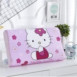 (总)吉咪兔 大版棉+绒卡通乳胶枕头