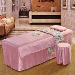 紫梦宣家纺 大观园美容床罩 大观园粉