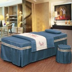 紫梦宣家纺 遇见六件套美容床罩 藏青色