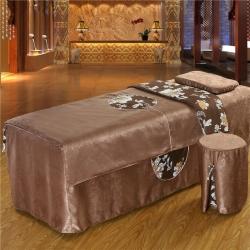 紫梦宣家纺 大观园美容床罩 大观园咖啡