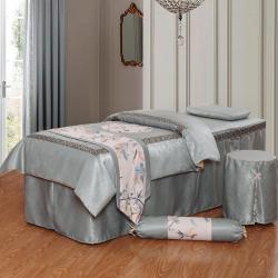 紫梦宣家纺 回字格美容床罩 灰色