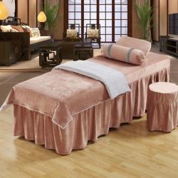 億非達 水晶絨系列美容床罩 灰色