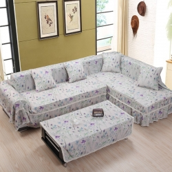 (总)美系双花边沙发巾美系风格沙发罩