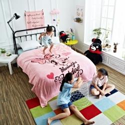 童年 法莱绒毛毯-萌萌哒