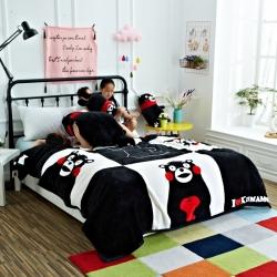 童年 法莱绒毛毯-酷酷熊