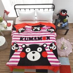 童年 法莱绒毛毯-粉粉萌熊