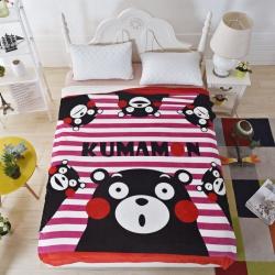 童年 粉粉萌熊毛毯-粉粉萌熊