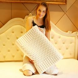 沃蘭國際 泰國天然乳膠枕芯護頸椎顆粒橡膠記憶枕頭(送內外套)