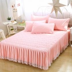 水洗棉夹棉绗绣床裙