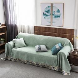 云顶家纺 纯色雪尼尔沙发罩 纯色-翡翠