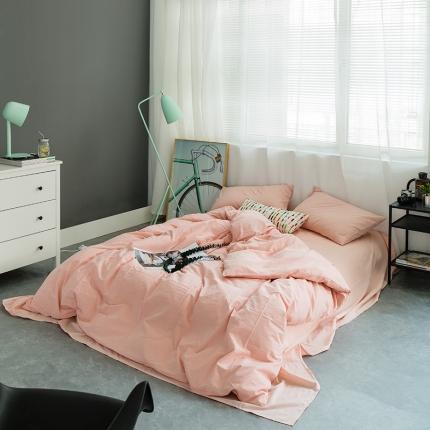 (总)欧麦家家纺 2019基础款水洗棉四件套床单款