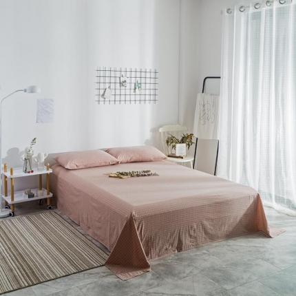 欧麦家家纺 2019新款单品花色床单 小粉格