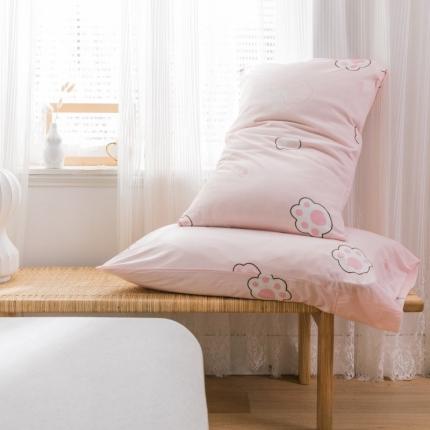 (总)欧麦家 2019针织天竺棉印花单枕套一对