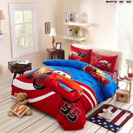 (总)迪士尼家居馆 13372全棉活性印花宽幅套件床笠款