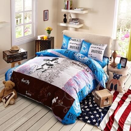 (总)迪士尼家居馆 13372全棉活性印花窄幅套件床单款