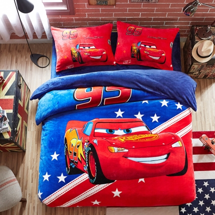 (总)迪士尼家居馆 迪士尼法莱绒套件床笠款