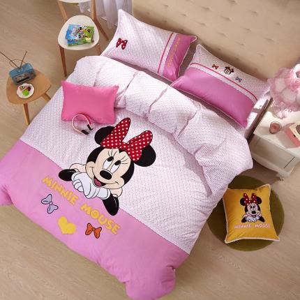 (总)迪士尼家居馆 全棉印加绣套件床单款
