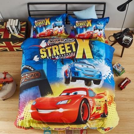 迪士尼全棉13372数码印花三件套四件套床单款CS-0221
