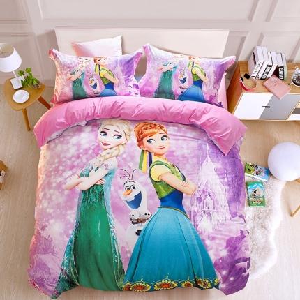 迪士尼全棉13372数码印花三件套四件套床单款FZ-0217