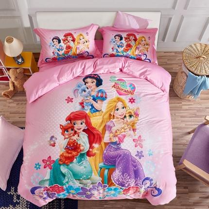 全棉13372数码印花三件套四件套床单款PR-0219