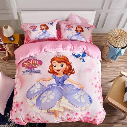全棉13372数码印花三件套四件套床单款SF-0220