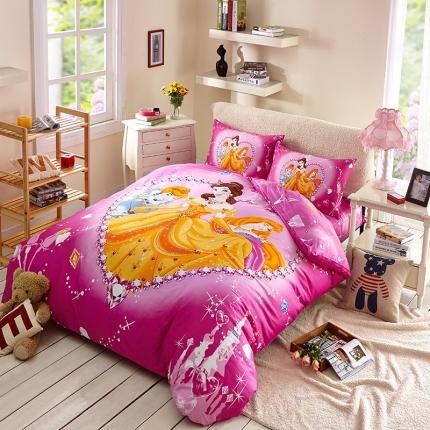 迪士尼家居馆13372全棉活性印花宽幅套件床单款PE-741
