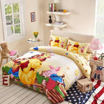 迪士尼家居馆13372全棉活性印花宽幅套件床单款PH-718