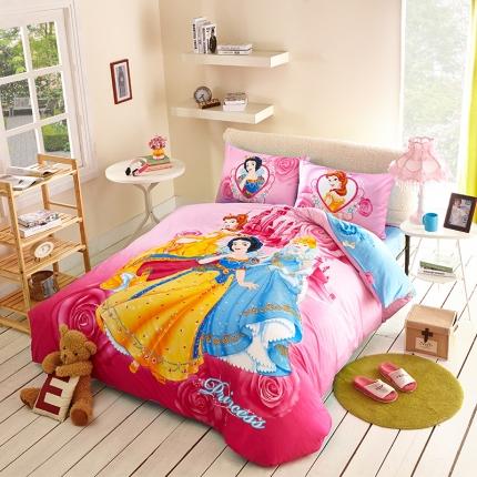 迪士尼家居馆13372全棉活性印花宽幅套件床单款PR-218