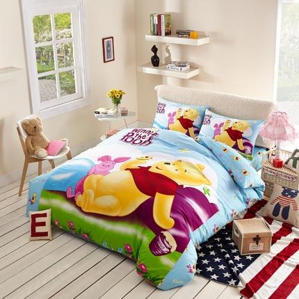迪士尼家居馆13372全棉活性印花窄幅套件床单款PH-766