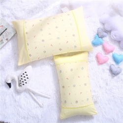 酷逗全棉针织彩棉儿童枕儿童枕套棉花枕芯决明子枕芯甜心宝贝-黄