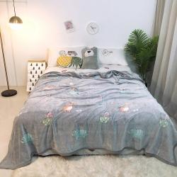 (总)戈莱 雪花绒毛毯小被子毛毯懒人毯午睡空调休闲床单盖毯