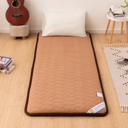 贝织家纺 2019新款上下铺学生宿舍寝室床垫亲肤床垫咖色波纹