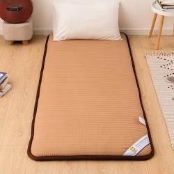 贝织家纺 2019新款上下铺学生宿舍寝室床垫亲肤床垫咖色条纹