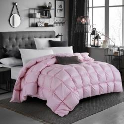 【新世嘉羽绒】新传统面包鹅绒被-粉色