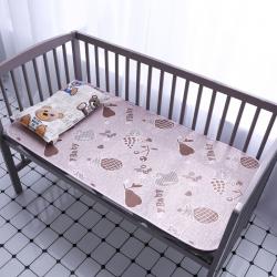 天天席業 2019新款童席冰絲席草席雙面寶寶涼席 粉色