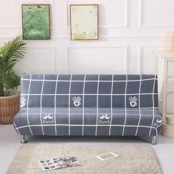 大G垫业 2019新款折叠沙发床套 格子格