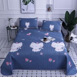 (总)雀美家纺 水洗天丝夹棉软凉席床盖款三件套