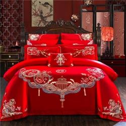 爱琴海 新款60S婚庆系列四件套自由搭配多件套床单款花韵喜事