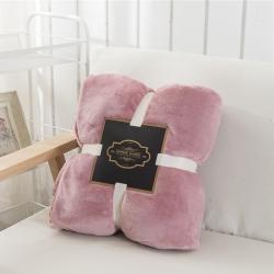 素素纺织 2019新款法莱绒毯单层 豆沙