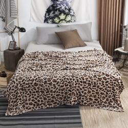 素素紡織 2019法蘭絨毛毯 豹紋