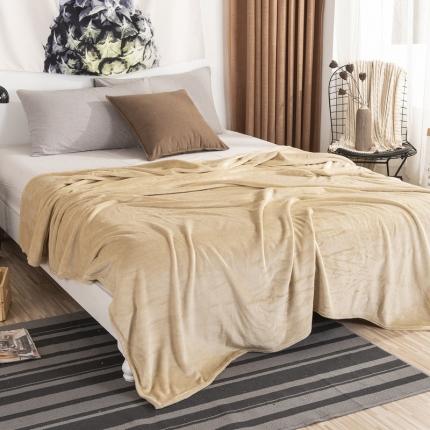 素素纺织 2019法兰绒毛毯 驼色