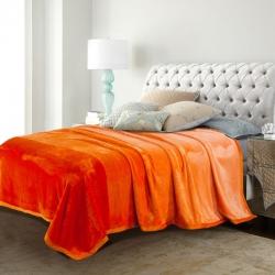 得宇 2019新款洁洁绒毛毯 橙色