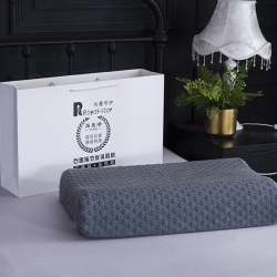 微枕芯 石墨烯竹炭乳胶枕 图片色