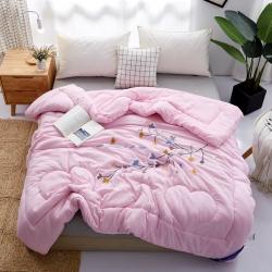 (總)宜夢佳 2019新款水洗棉毛巾繡冬被整張棉被芯保暖加厚